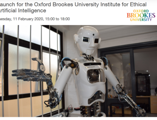 The Launch of the Institute of Ethical Artificial Intelligence @Oxford Brookes on 11 Feb 2020